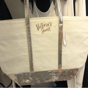 Victoria's Secret glam sequined tote/travel bag